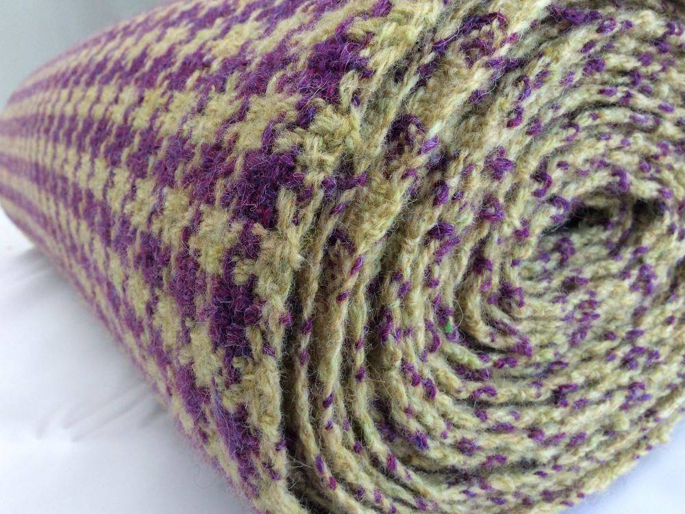 Purple and butter fabric