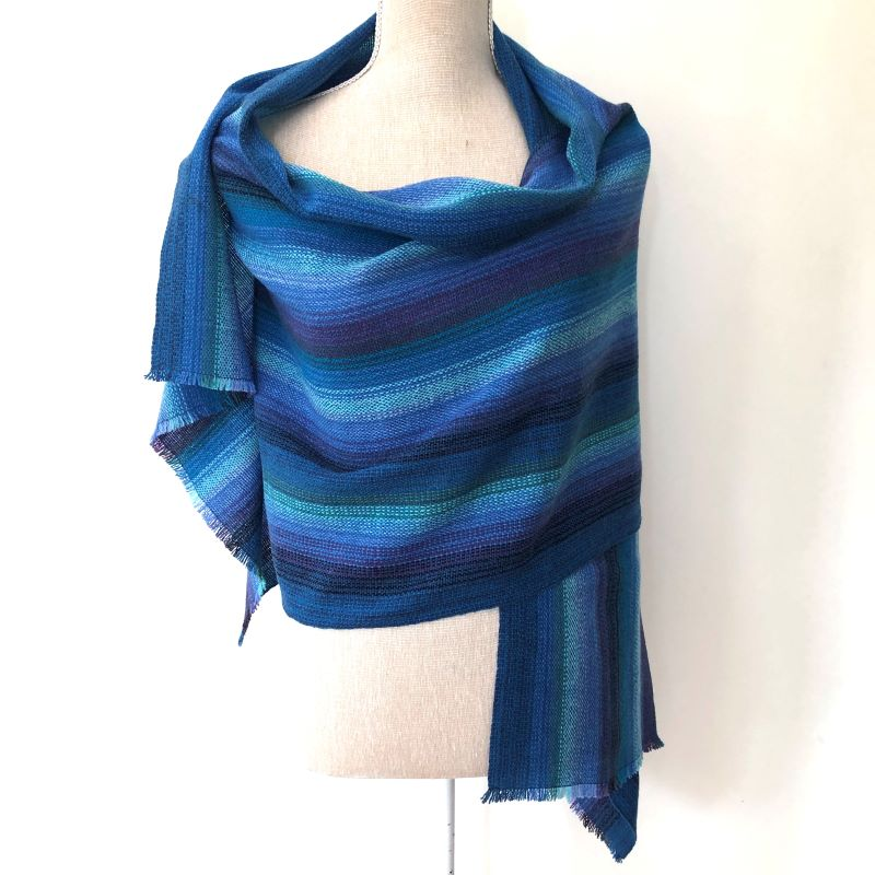 Lambswool Wrap - blues