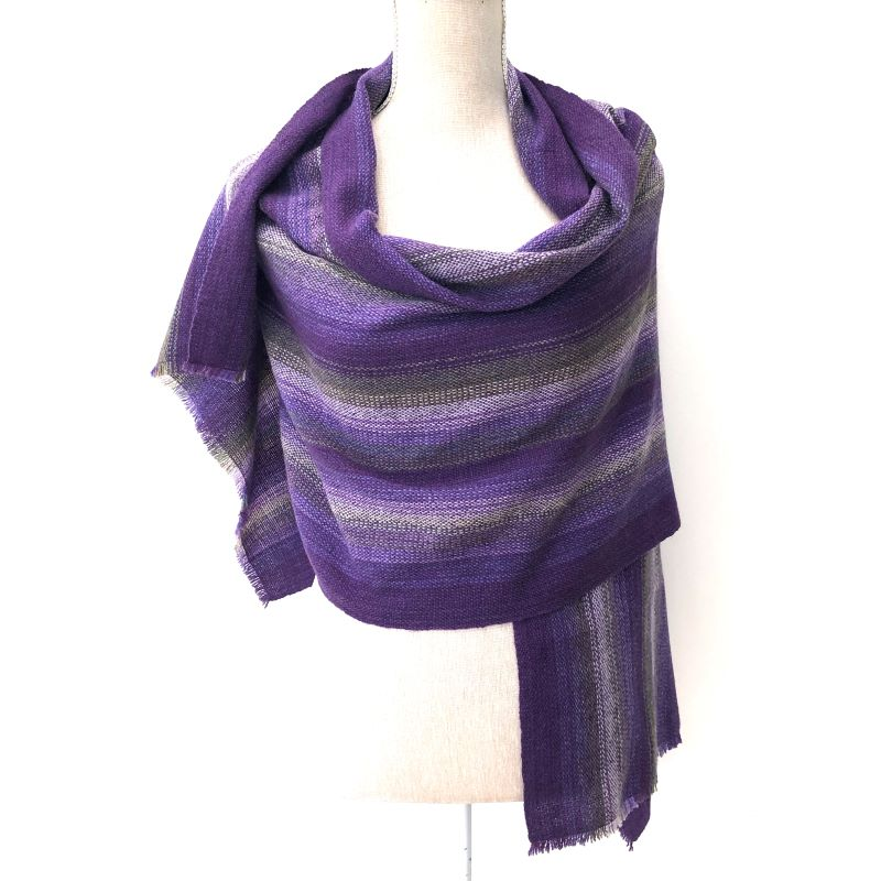 Lambswool Wrap - purples