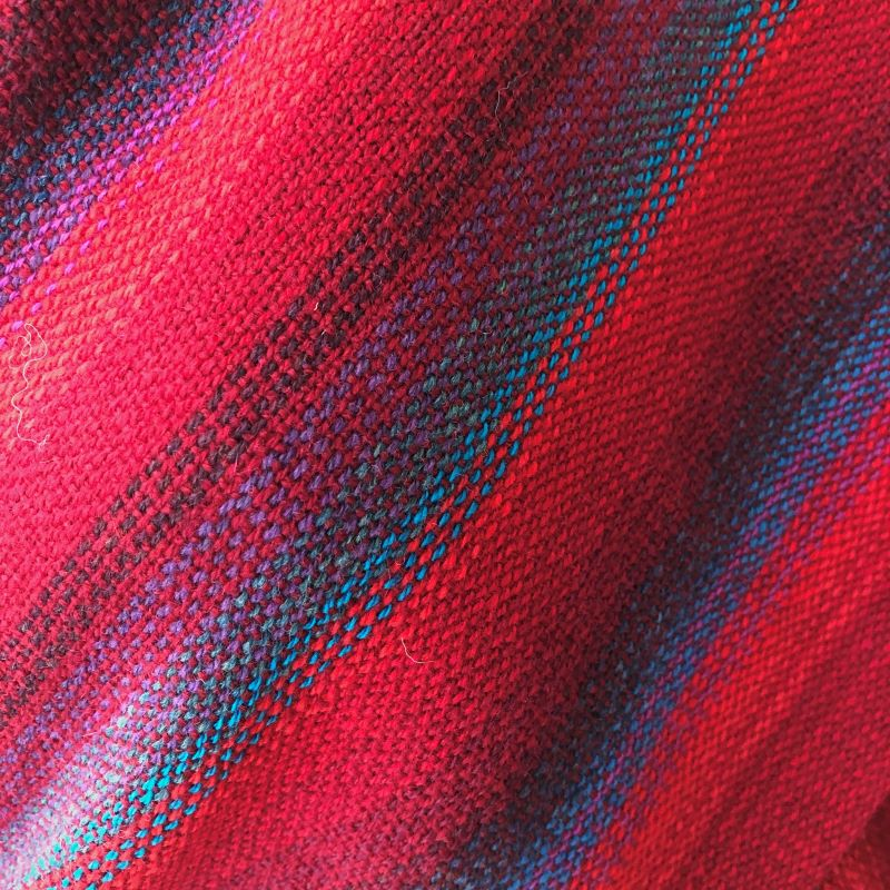 Lambswool Wrap - reds