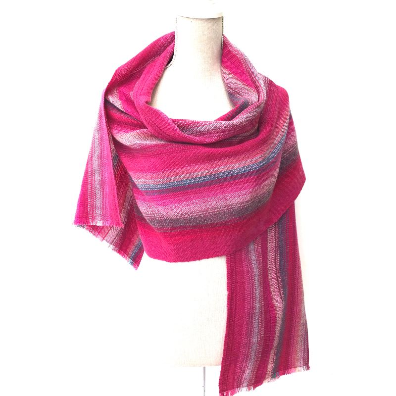 Lambswool Wrap - pinks