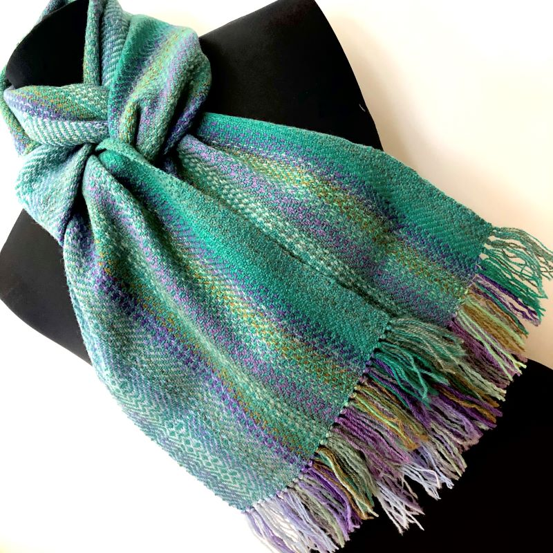 Landscape Scarf - light green mix