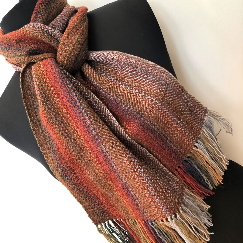 Landscape Scarf - rust mix