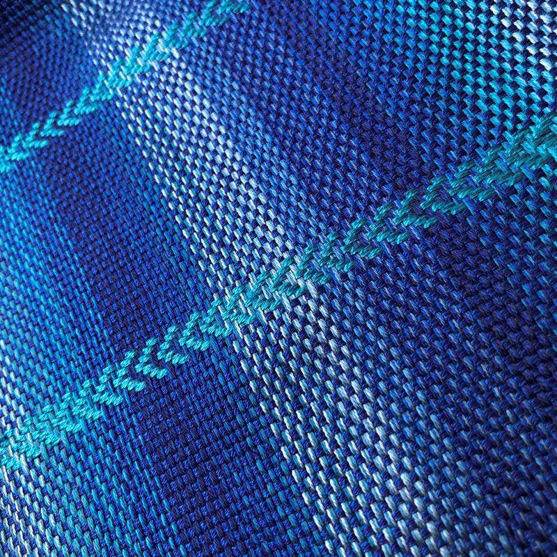 Silk Arrow Scarf - blue