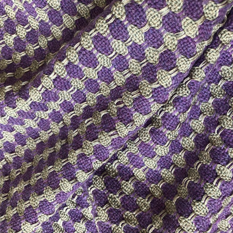 Silk Lattice Scarf - purple/silver