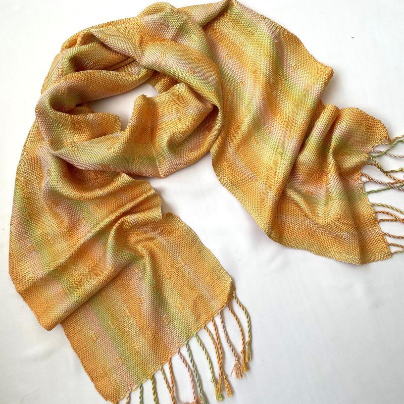 Silk Leno Scarf - golden yellow