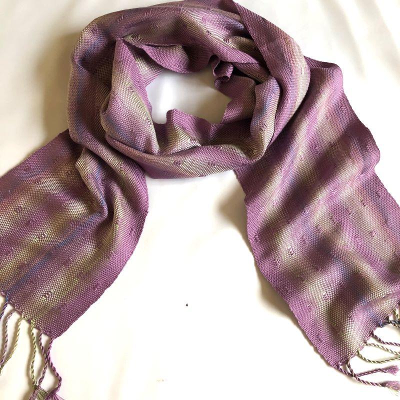 Silk Leno Scarf - Light purples