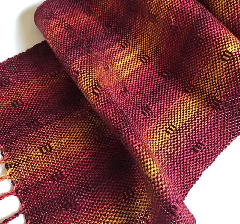Silk Leno Scarf - rusts