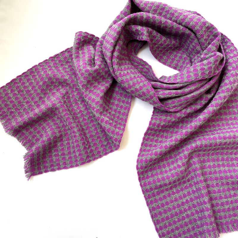 Spot It Scarf - purple and grey