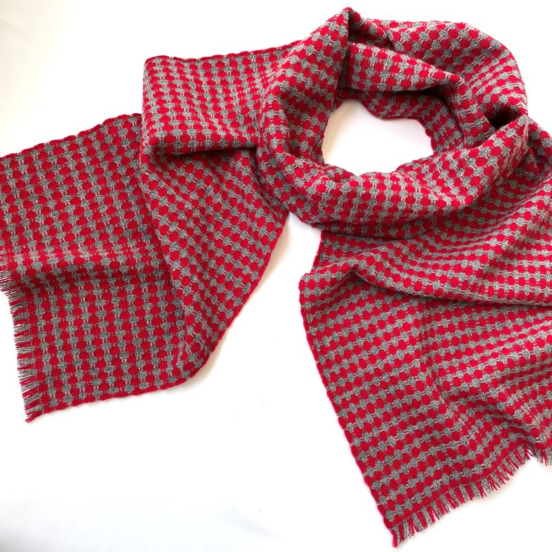 Spot It Scarf - red and grey