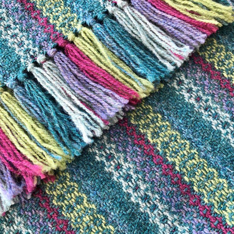 Tapestry Scarf Jade/Lime/Dark Pink