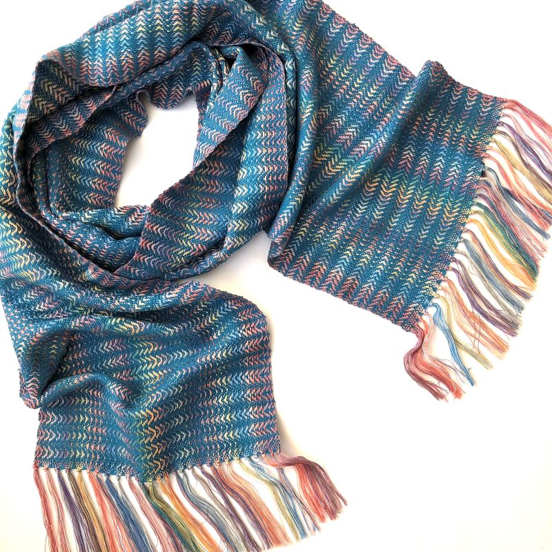 Silk Waves Scarf - turquoise