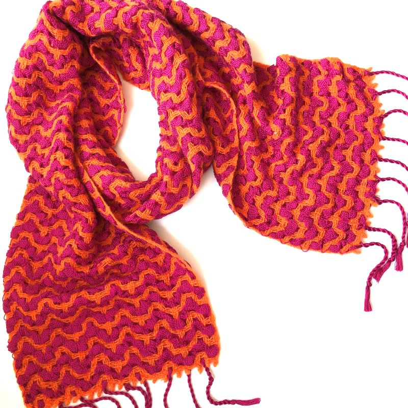 Silk Deflect Scarf - orange/cerise